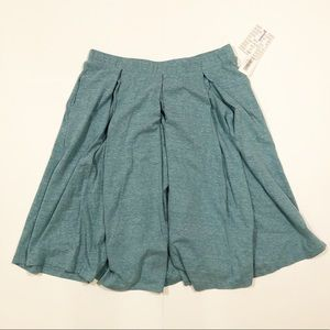 LuLaRoe blue/green large midi skirt Madison New